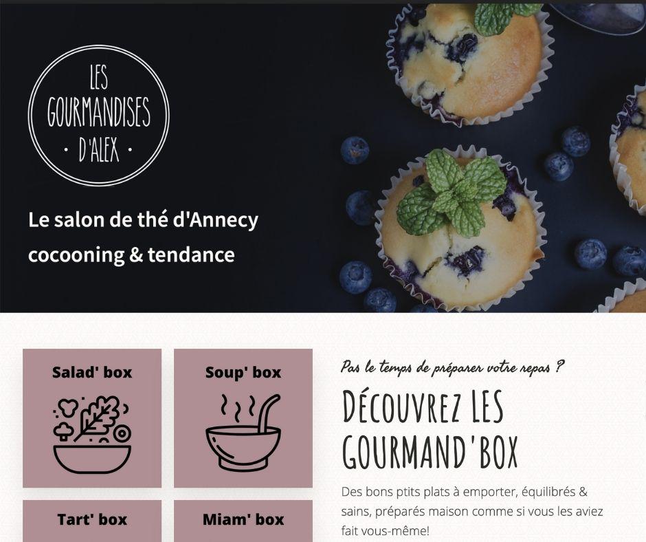 Restaurant Les Gourmandises d'Alex Annecy projet site web, réservation en ligne, click and collect, e-commerce, seo, stratégie digitale, référencement, structure UX projet Marwee consultant web Cruseilles