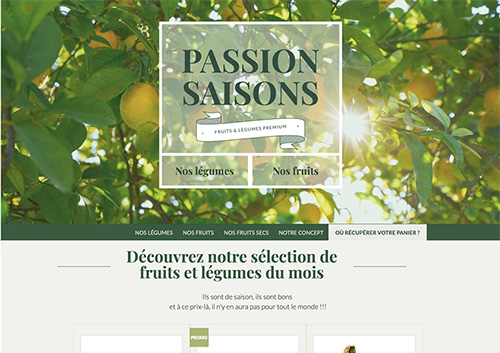 création site web ecommerce click and collect Passion Saison projet Marwee consultant digital marketing site internet strategie web Cruseilles