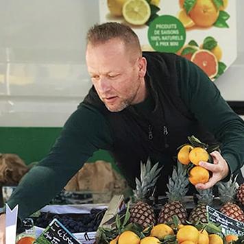 Pierre Alilou, primeur de fruits et légumes de saison, client Marwee, Marwee, création sites web sur Cruseilles